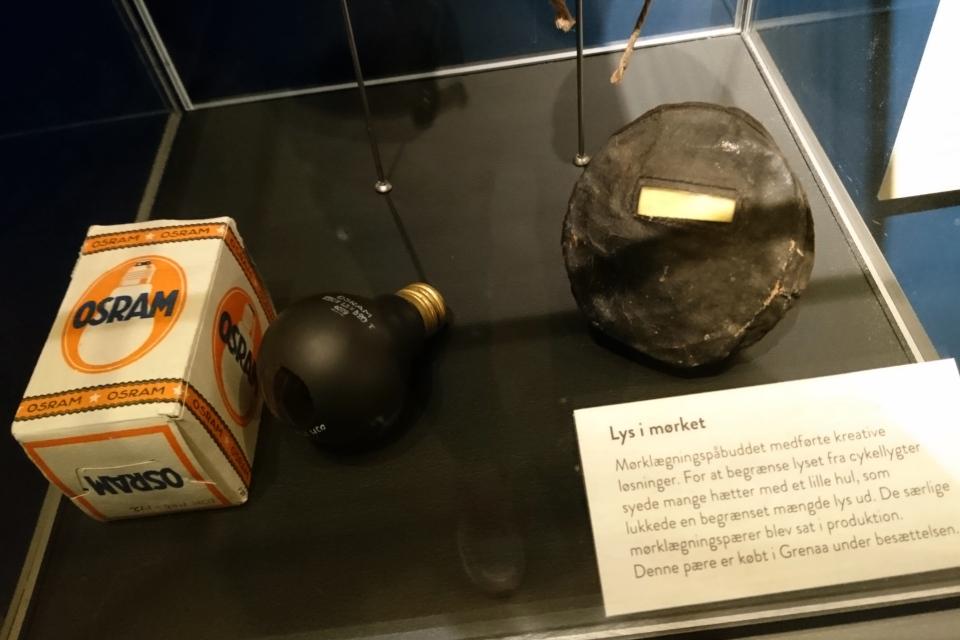 Лампочки. Выставка оккупации Дании в музее Грено. 12 сент. 2020