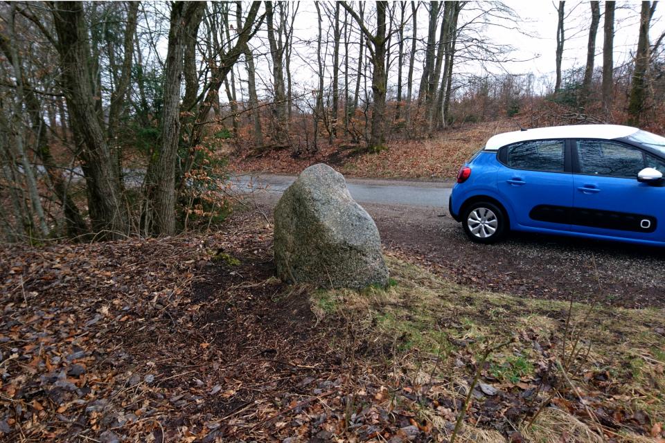 Камень возле дороги. Гассум, Дания. Фото 28 мар. 2021
