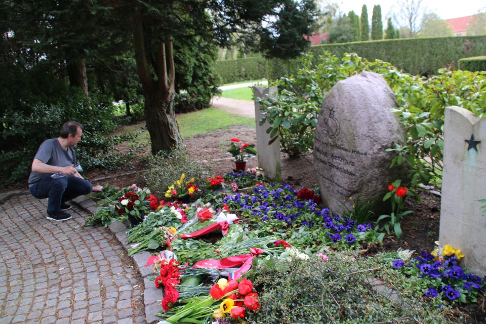 День Победы 9 Мая 2021 на могилах Советких Солдат. Орхус, Дания