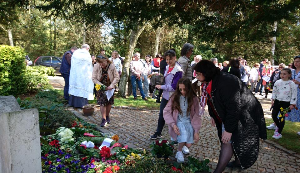 День Победы 9 Мая 2021 на могилах Советких Солдат, Орхус, Дания