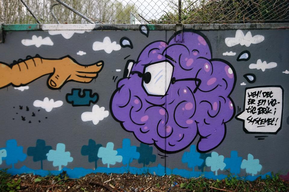 Стрит-арт. Мусоросортировочный комплекс Эскелунд, Орхус, Дания. 5 мая 2021