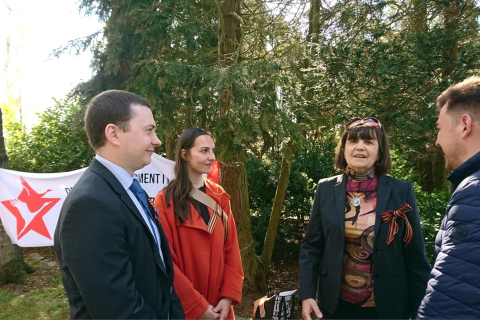Представители посольства РФ в Дании и Ирина Педерсен. 9 мая 2021, Орхус, Дания