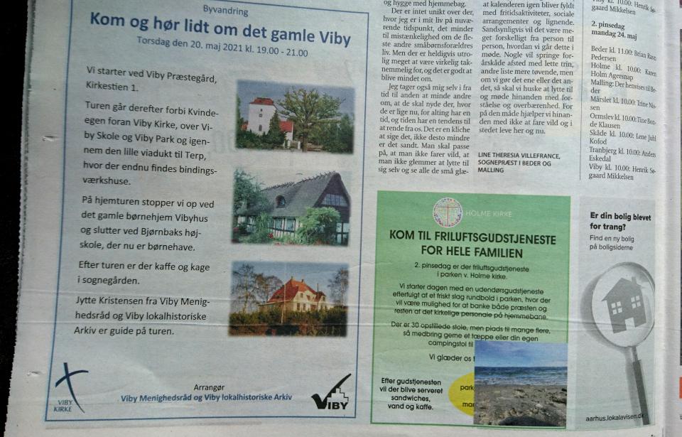 Объявление в местной газете Aarhus Onsdag. Фото 19 мая 2021