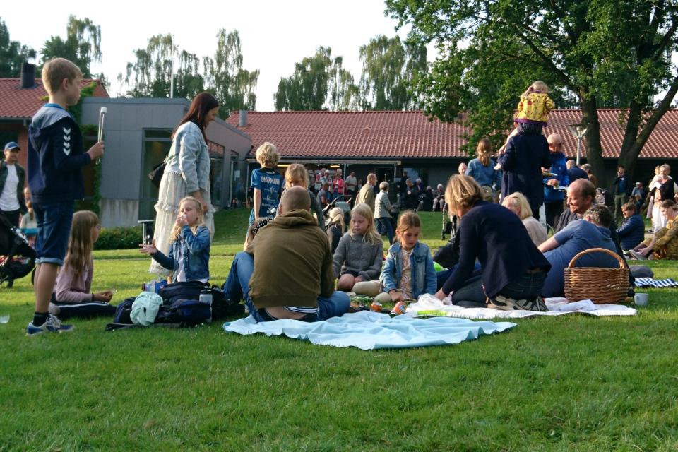 Маршмэллоу на костре. День святого Ханса в Холме, Дания. Marshmallow, Sankt Hans i Holme. 23 июн. 2021