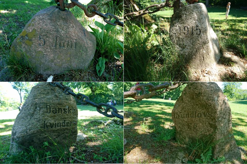 Четыре камня возле женского дуба на холмах Химмельбьерг, г. Рю, Дания. Фото 16 июн. 2021