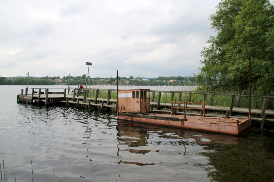Причал. Озеро Борре, Borre Sø, Дания. 11 июн. 2021