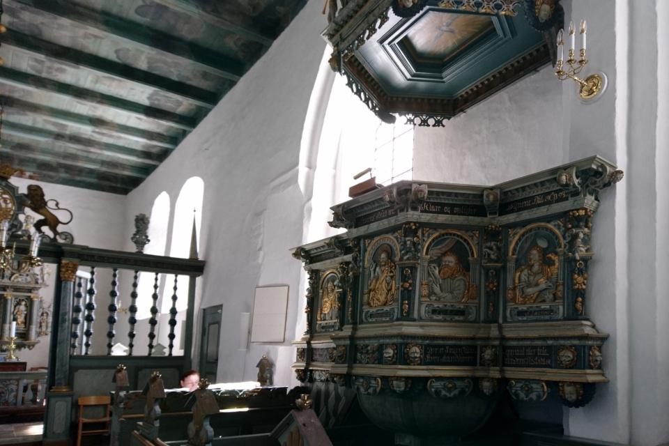 Кафедра церкви Асмильд. Фото 2 июн. 2021, Виборг, Дания