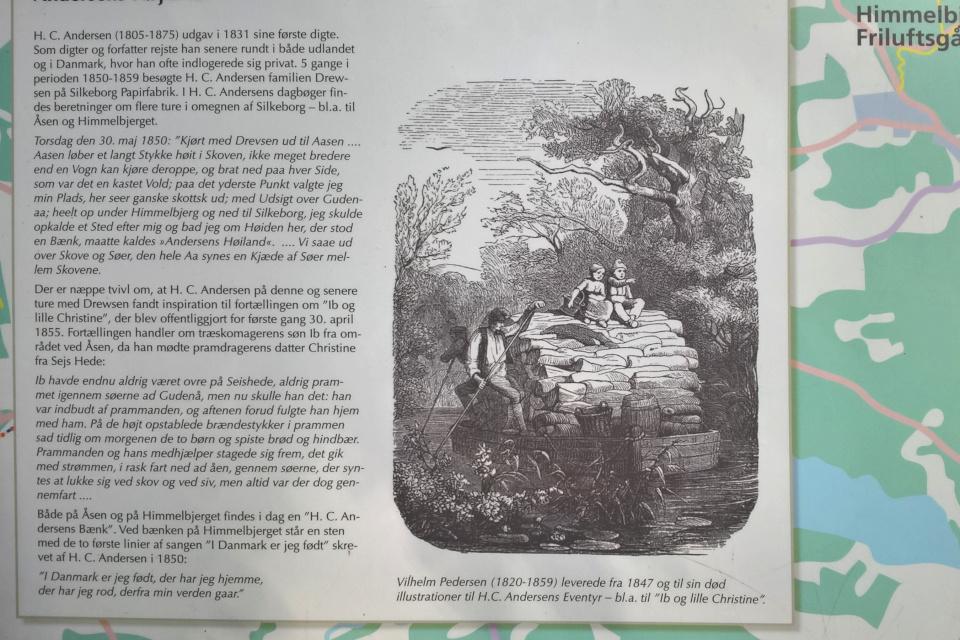 иллюстрация к сказке Андерсена Иб и Христиночка Вильгельма Педерсена (Vilhelm Pedersen, 1820-1859), Инфо. щит Химмельбьерг, Дания. 19 июл. 2017