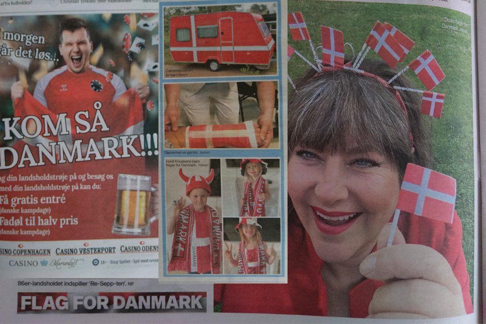 Flag for Danmark, Флаг за Данию. 26 июн 2021