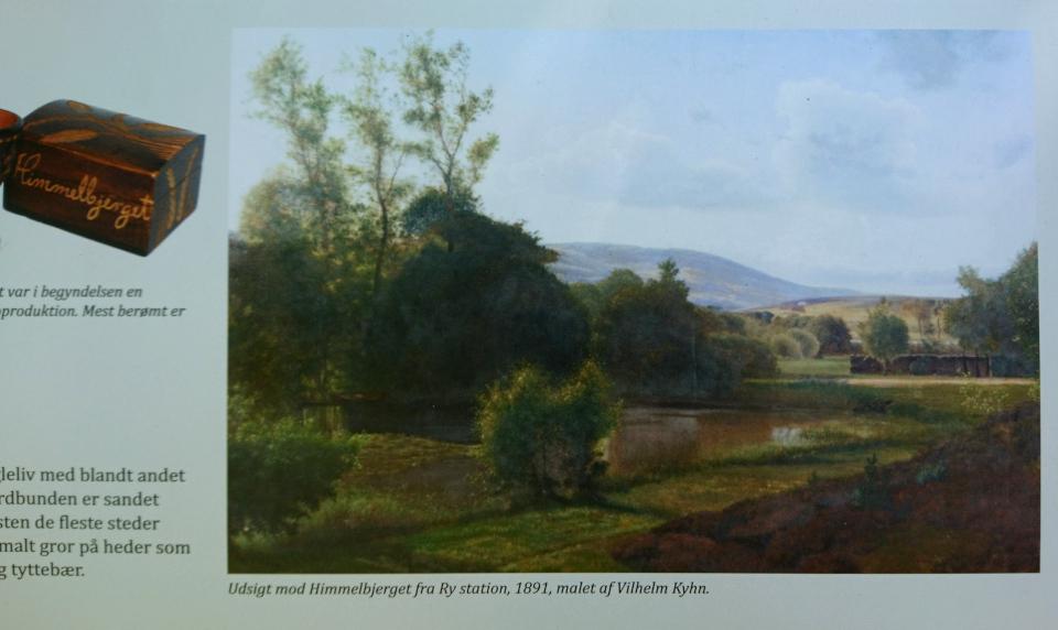 Вид на Химмельбьерг со стороны станции г. Рю. Питер Вильхельм Карл Кюн (1891)