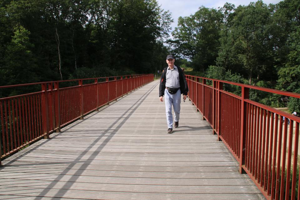 Открытый заново мост (Den Genfundne Bro), Брэдструп (Brædstrup), Дания 18 июл. 2021