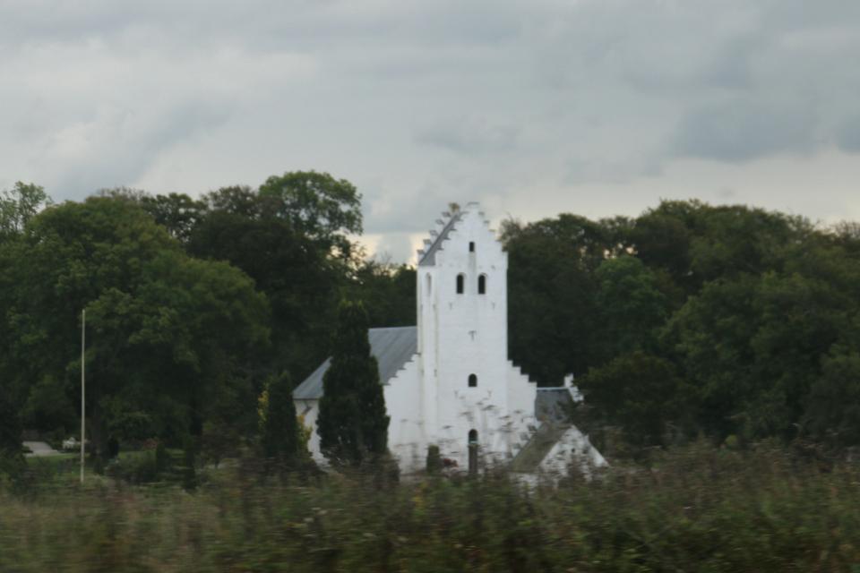Церковь Брайнет (Bregnet Kirke), Калё, Дания. Фото 22 сентября 2021