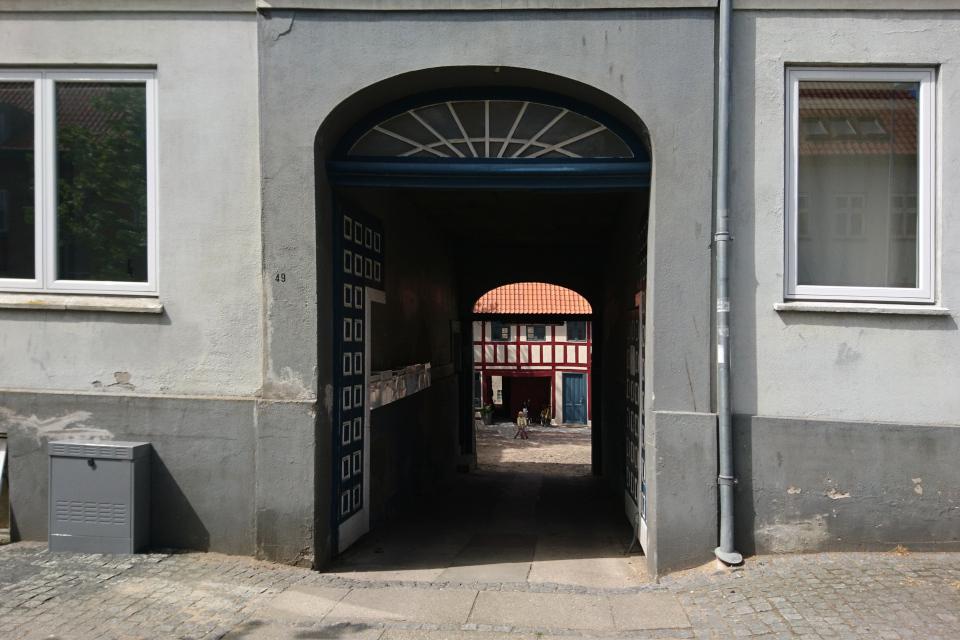 Хорсенс, улица Смедегэде (Smedegade, Horsens), Дания. Фото 1 июл. 2021