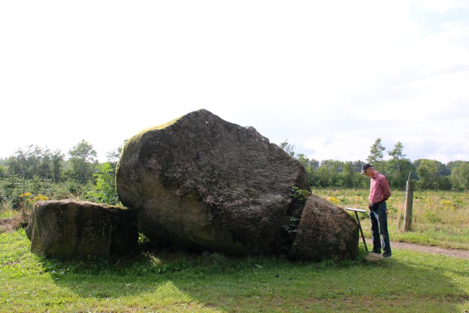 Камень Гамборггорд (Hamborggårdstenen), Бэкке, Дания. Фото 28 июл. 2021
