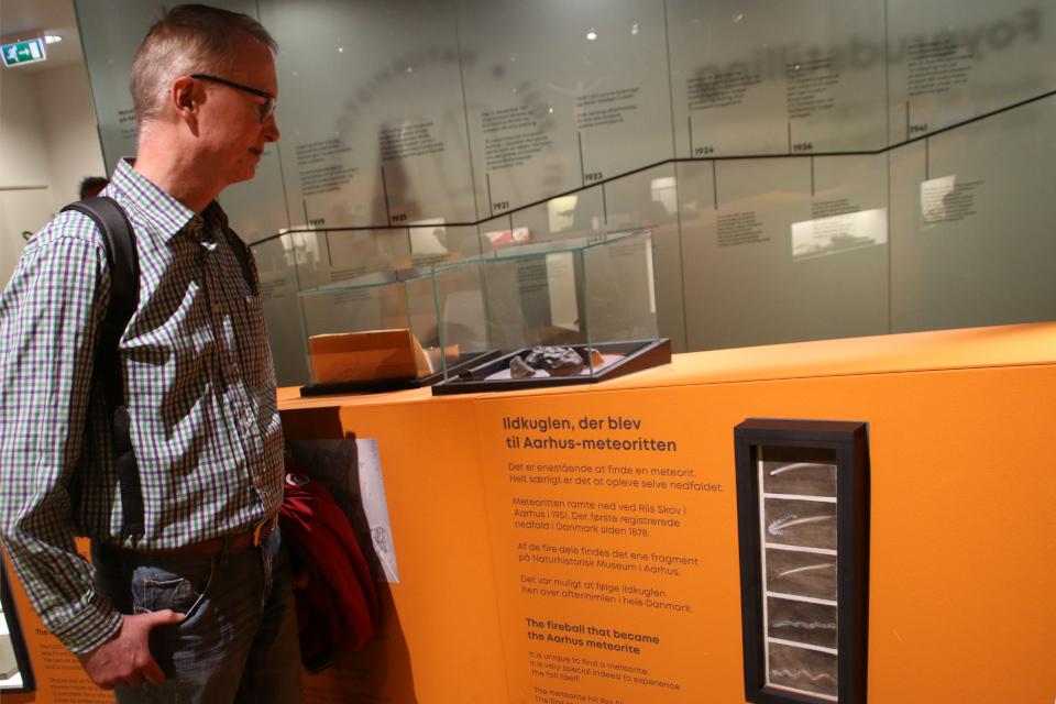 Метеорит. Музей естественной истории Орхус, Дания (Naturhistorisk Museum Aarhus). Фото 29 авг. 2021