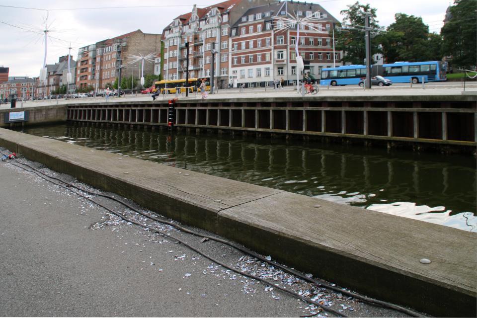 Разбитыераковины мидий. Праздничная неделя Орхус - бабочки и одуванчики, Light a Wish, Aarhus Festuge, Дания. Фото 29 авг. 2021