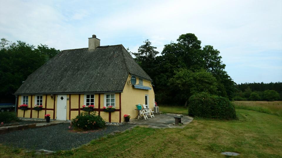 Фахверковы дом, Удбюхой (Udbyhøj, Havndal), Дания. Фото 28 июля 2021