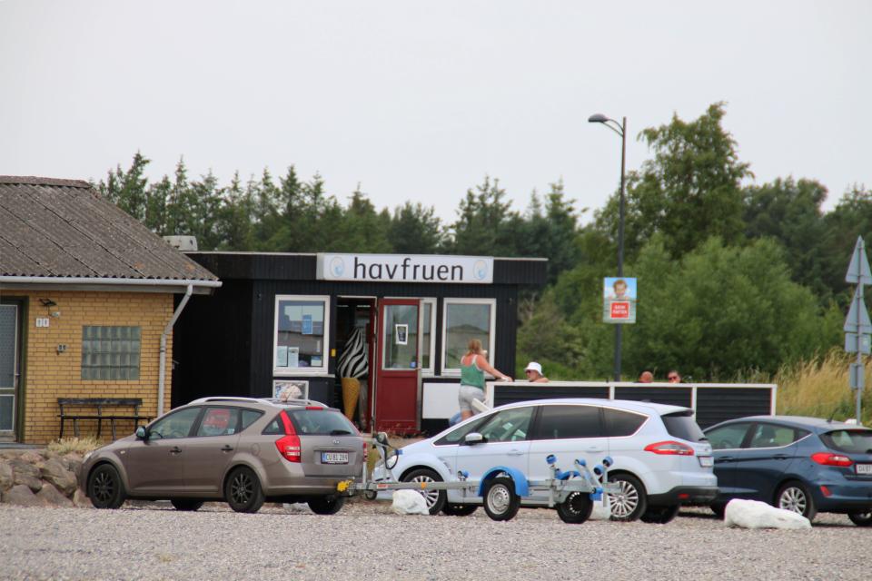 Butik Havfruen. Фьорд Рандерс. Удбюхой (Udbyhøj, Havndal), Дания. Фото 28 июля 2021
