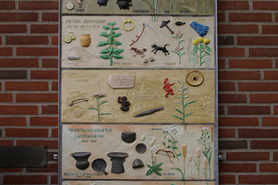 Каменный, бронзовый и железный век. Хронология истории Дании Хэрвайн (Hærvejens Tidstavle Bække), Дания. Фото 28 июл. 2021