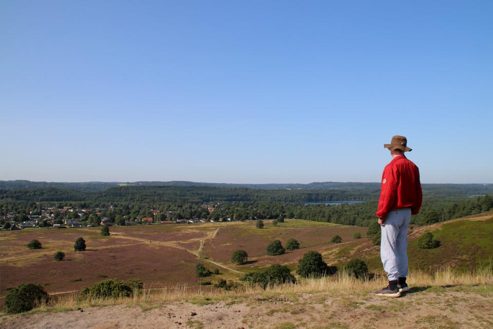 Озера Силькеборг. Вересковые холмы Синдбьерг и Стоубьерг (Lyngbakke Sindbjerg Stovbjerg), Сайс-Свайбэк (Sejs-Svejbæk), Дания. Фото 23 авг. 2021
