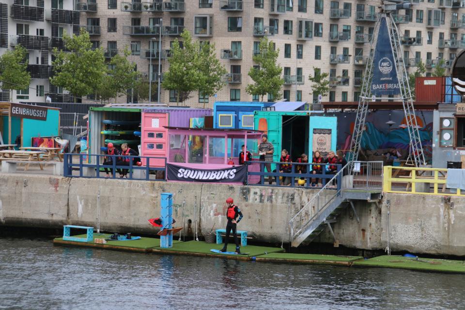 Вейкборд. Bassin 7. Орхус Доклендс (Aarhus Ø), Дания 29 сентября 2021