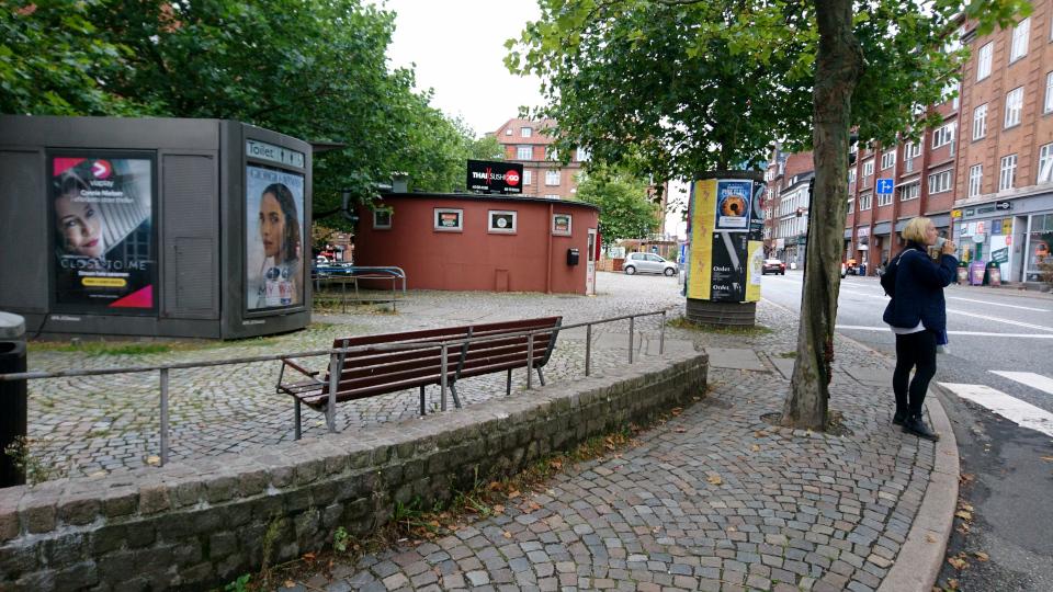 Туалет. Вестербро Торв Орхус (Vesterbrotorv Aarhus), Дания. Фото 18 сент. 2021