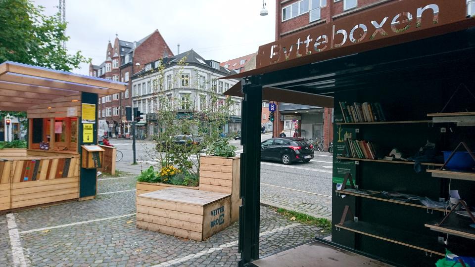 Flyttebox. Вестербро Торв Орхус (Vesterbrotorv Aarhus), Дания. Фото 18 сент. 2021