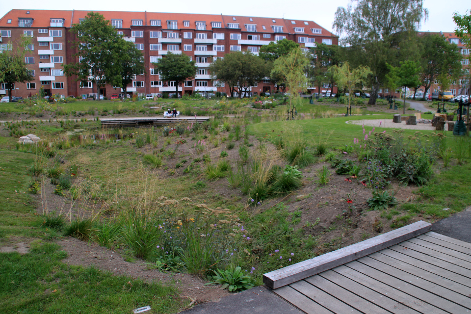 Дождевой парк Спарк (Spark rain park, Marselisborg center), Орхус, Дания. Фото 2 сент. 2021