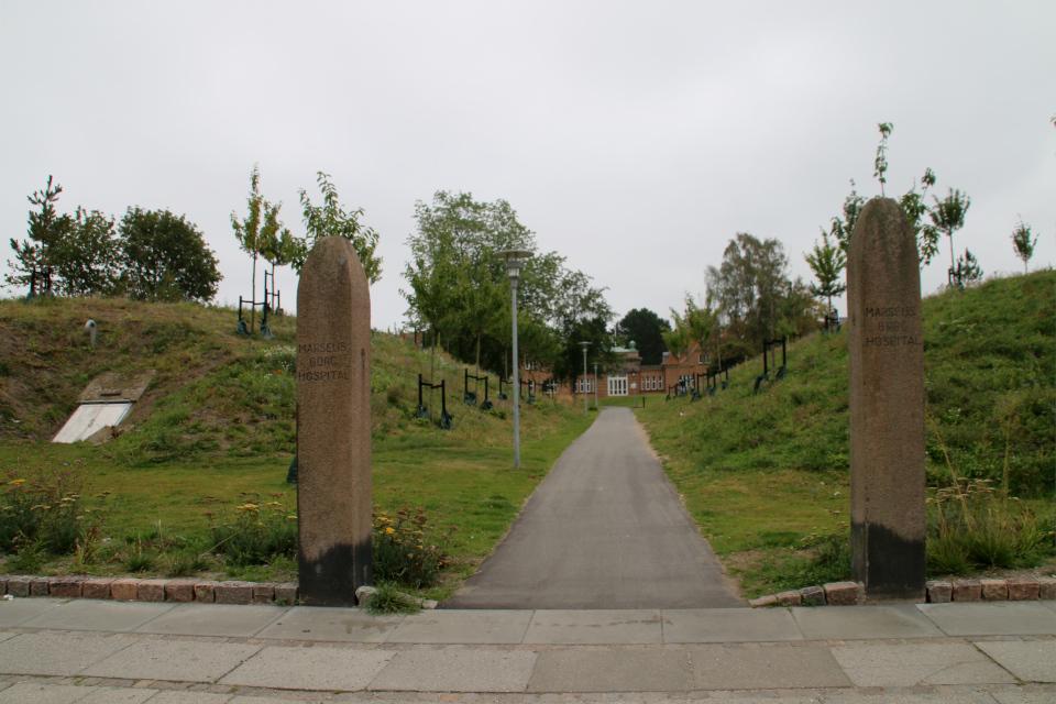 Бомбоубежище. Дождевой парк Спарк (Spark rain park, Marselisborg center), Орхус, Дания. Фото 2 сент. 2021