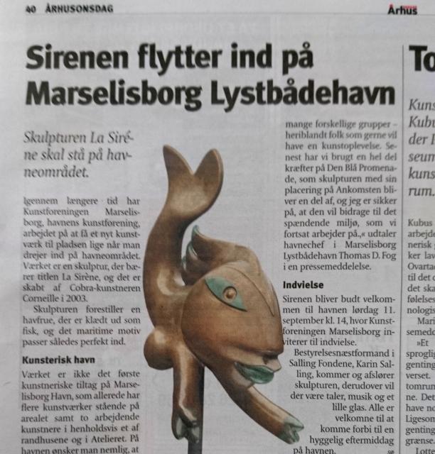 Русалочка - Сирена Орхуса, порт Марселисборг (La Sirene Marselisborg havn), Aarhus Onsdag