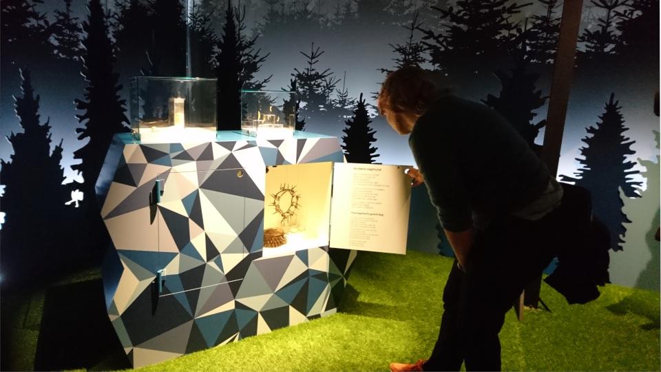 Капкан. Волки в Дании, музей естественной истории Орхус (Dansker med Ulve, Naturhistorisk Museum), Дания. Фото 29 авг. 2021