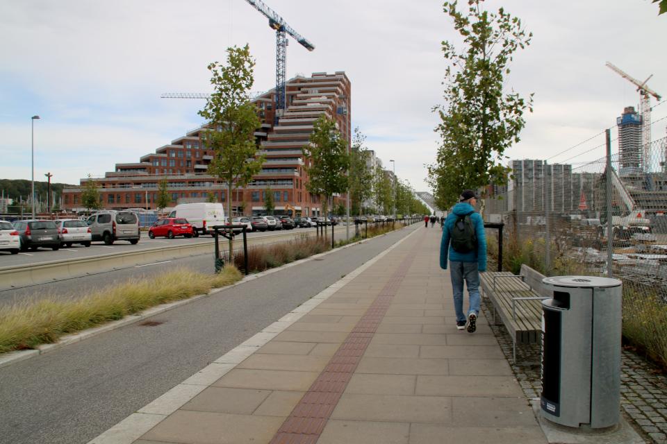 Bernhardt Jensens Boulevard. Орхус Доклендс (Aarhus Ø), Дания 29 сентября 2021