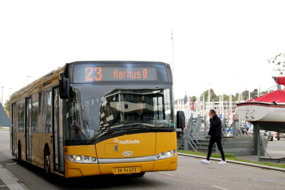 Автобус. Орхус Доклендс 29 сентября 2021 (Aarhus Ø), Дания