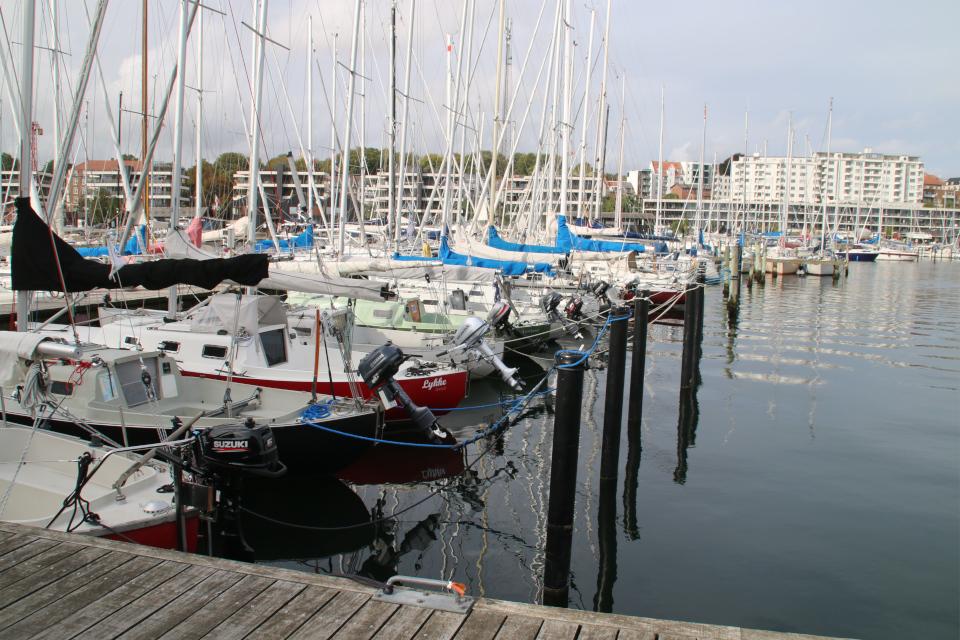 """Парусная лодка """"Счастье"""". Орхус Доклендс 29 сентября 2021 (Aarhus Ø), Дания"""