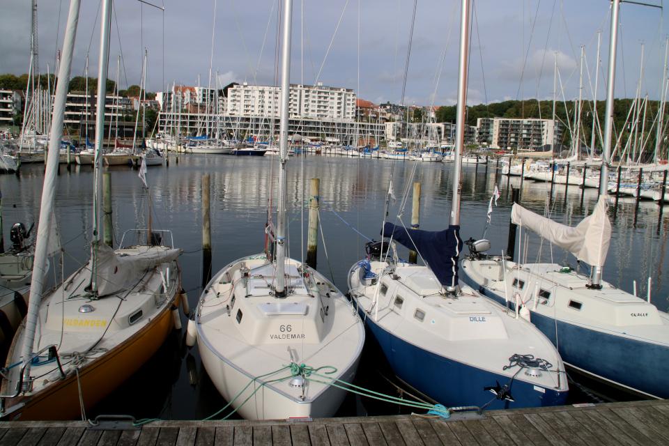 """Парусная лодка """"Вальдемар"""". Орхус Доклендс 29 сентября 2021 (Aarhus Ø), Дания"""
