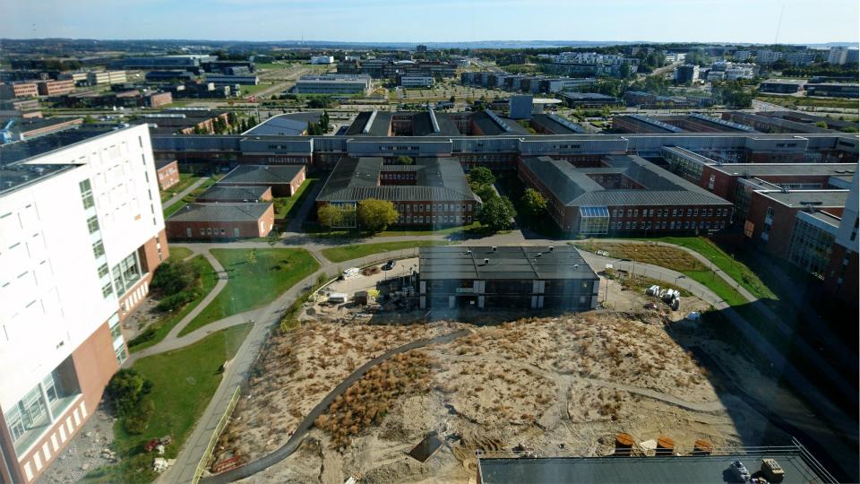 Парк. Форум - день открытых дверей (Forum - Åbent Hospital), Университетская больница Орхус, Дания. Фото 5 сент. 2021