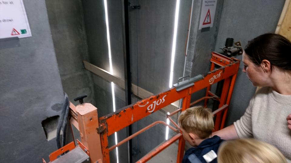 Лифт. Вид на Орхус. Форум - день открытых дверей (Forum - Åbent Hospital), Университетская больница Орхус, Дания. Фото 5 сент. 2021