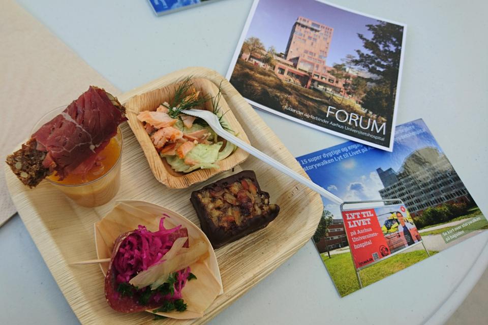Еда. Форум - день открытых дверей (Forum - Åbent Hospital), Университетская больница Орхус, Дания. Фото 5 сент. 2021