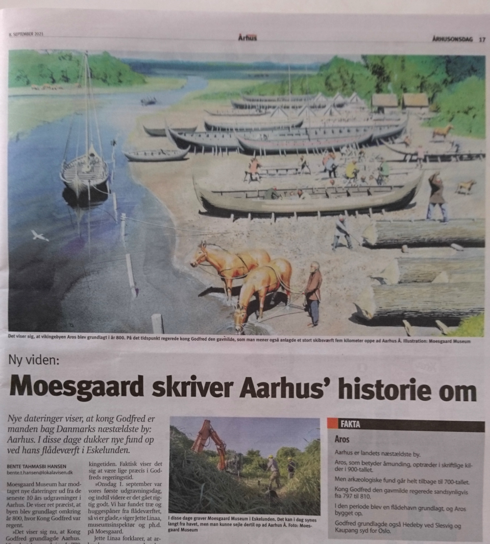 Kong Godred bag Aarhus, flådeværf i Eskelunden. Aarhus Onsdag 9 sept. 2021