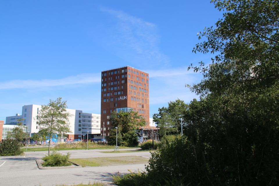 Парковка. Форум - день открытых дверей (Forum - Åbent Hospital), Университетская больница Орхус, Дания. Фото 5 сент. 2021