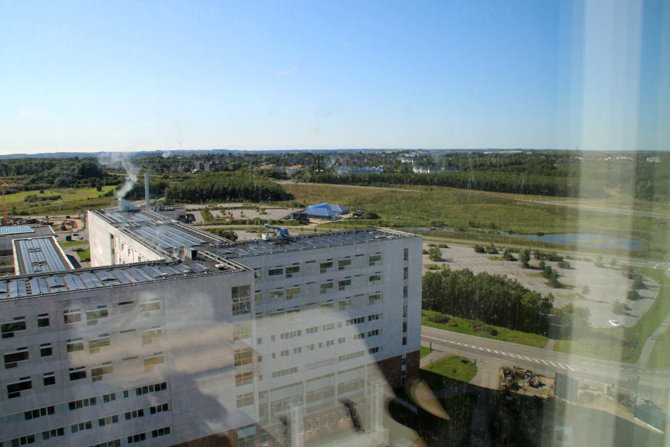 Вид на Орхус. Форум - день открытых дверей (Forum - Åbent Hospital), Университетская больница Орхус, Дания. Фото 5 сент. 2021