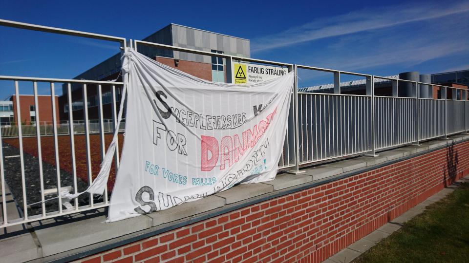 Забастовка. Форум - день открытых дверей (Forum - Åbent Hospital), Университетская больница Орхус, Дания. Фото 5 сент. 2021