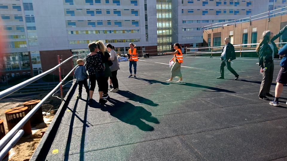 Терасса. Диабетический центр. Форум - день открытых дверей (Forum - Åbent Hospital), Университетская больница Орхус, Дания. Фото 5 сент. 2021