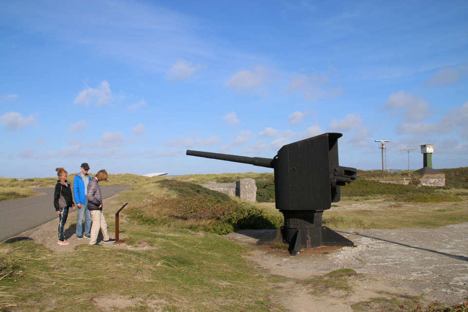 Пушка. Мемориальный парк Тюборён (Mindeparken Thyborøn), Дания. Фото 25 сент. 2021