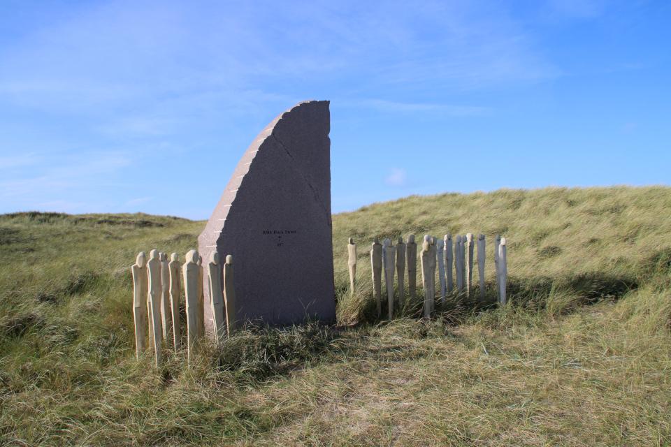 HMS Black Prince 857. Мемориальный парк Тюборён (Mindeparken Thyborøn), Дания. Фото 25 сент. 2021