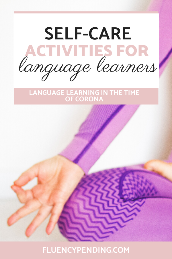 Self-care activities for language learners
