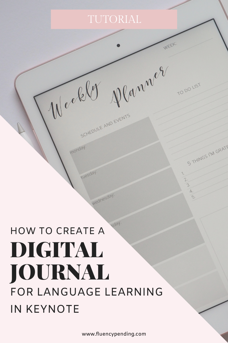 How To Create A Digital language Journal in Keynote
