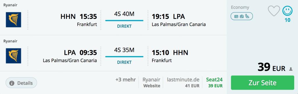 Frankfurt/Hahn nach Gran Canaria