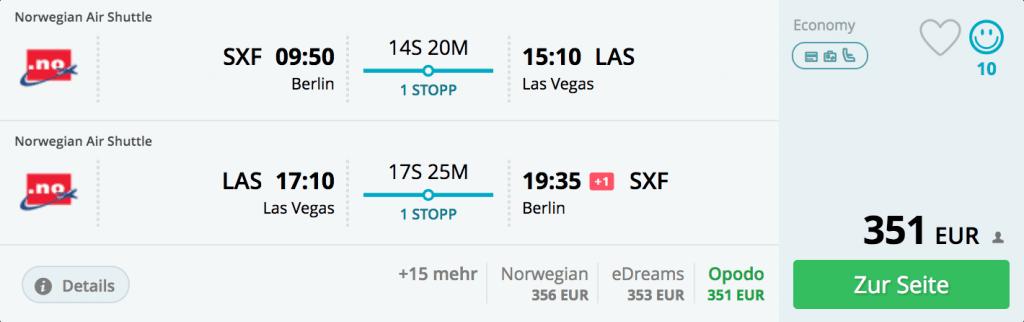 Für 351€ nach Las Vegas
