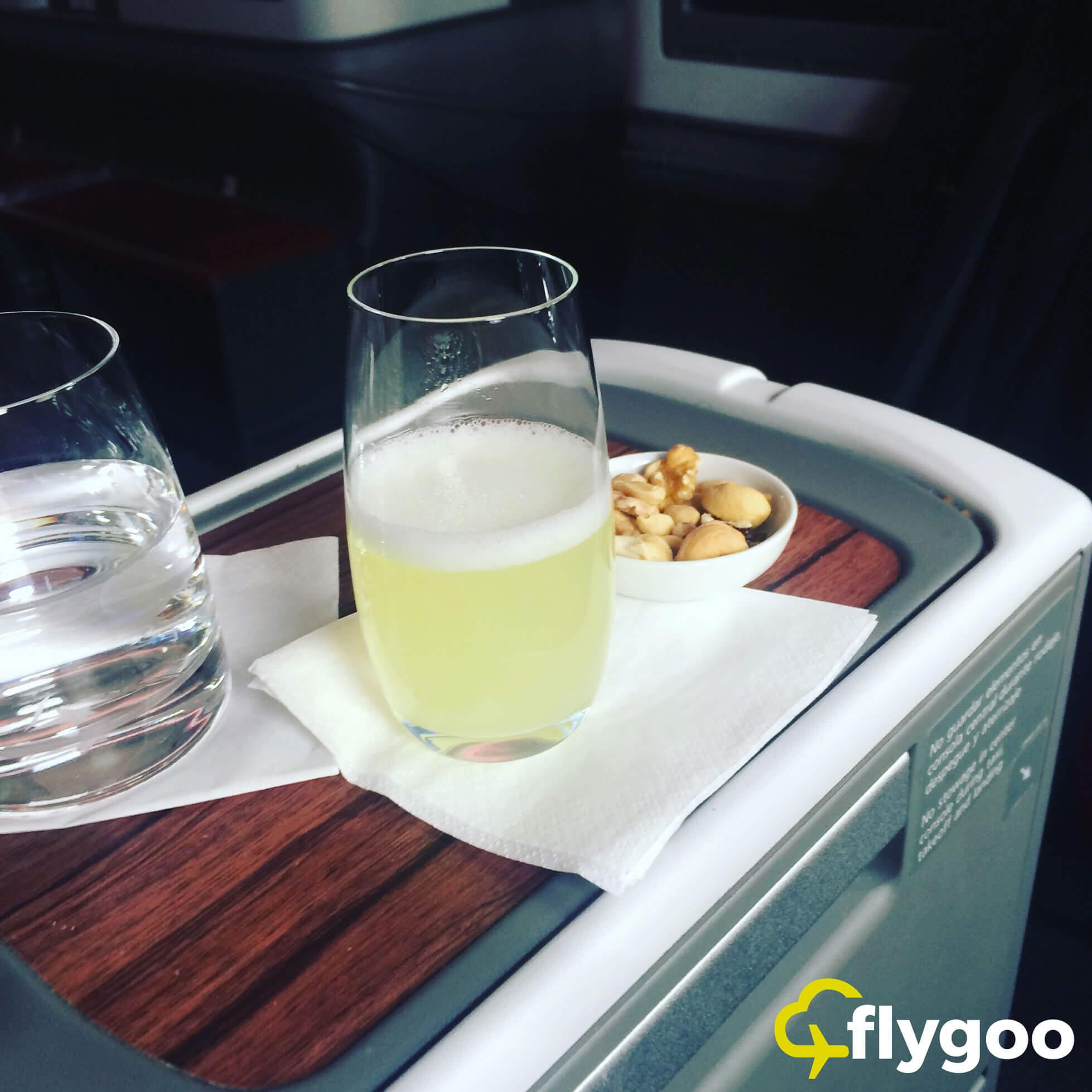 Getränk vor dem Abflug: Piscot Sour, ein Signature Cocktail aus Chile